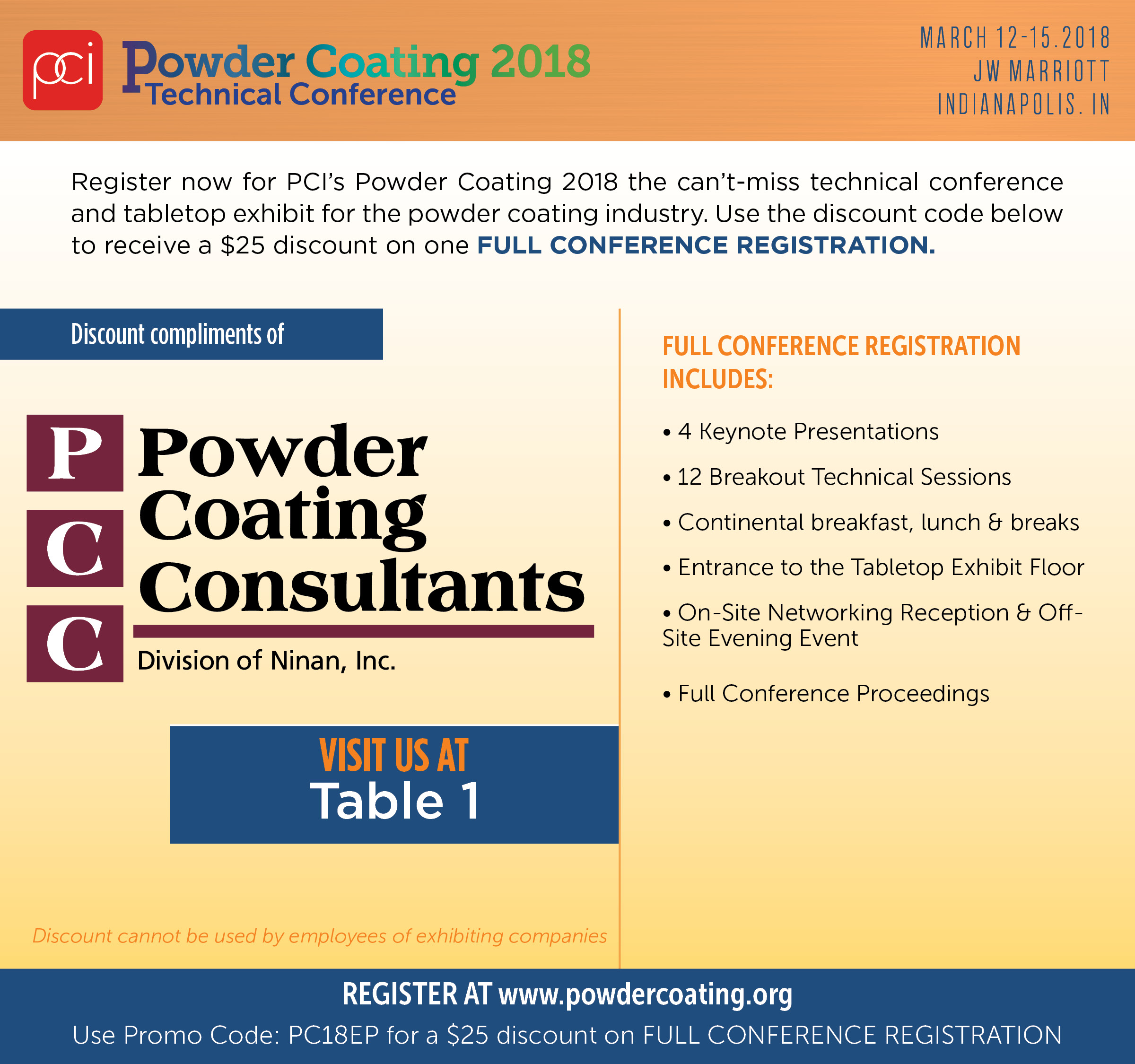 Powder Coating Consultants Discount Pass